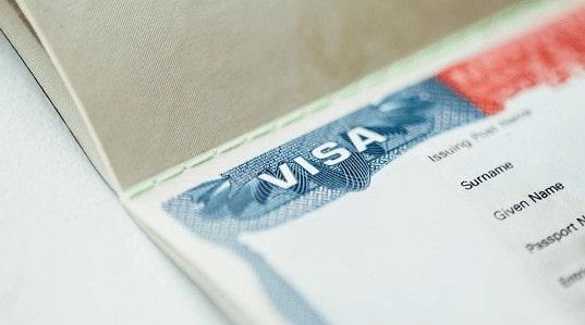 Taxa de solicitação do Visto Americano