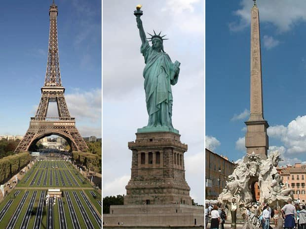Turismo - Paris, Nova York e Roma