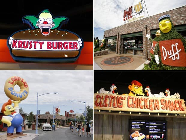 Ponto Turístico - Parque dos Simpsons