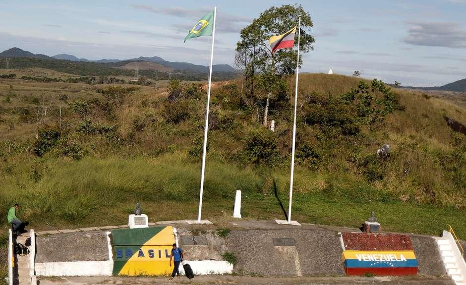 A fronteira do Brasil com a Venezuela